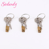 Wholesale Wholesale Male Chastity Device - SODANDY 3set Magic Lock And Keys Chastity Device Component For New Chastity Cage Mens Cock Cage Restraint Penis Stealth Locks
