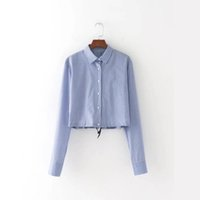 Wholesale Women Striped Button Down Shirt - 2017 Fashion Women Turn-down Collar Striped Shirts Long sleeve Blouses Casual Loose Tops femme chemise blusas