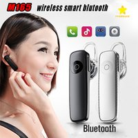Wholesale Handfree Stereo - M165 Wireless Stereo Bluetooth Headset Earphone Mini Wireless Bluetooth Handfree In-ear Earphone Universal for All Phone