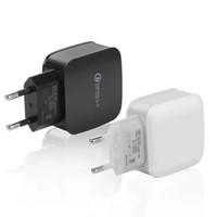cargos domiciliarios al por mayor-Top Qualtiy QC 3.0 EE. UU. UE Adaptador de carga rápida Cargador de pared de viaje en casa Cable de enchufe Cable usb Para Samsung Galaxy