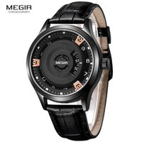 Wholesale Engraved Batteries - MEGIR Men's Fashion Watch Unique Engraved Dial Military Sport Watches Relogio Masculino Esportivo