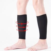 Wholesale Leg Slimming Socks - Compressed thin leg sets sports socks pressure socks leggings basketball running calf Slimming Bandages free shipping