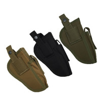Wholesale holsters left hand resale online - High Quality Right Left Interchangeable Tactical Pistol Hand Gun Holster Molle Pistol Holster Magazine Slot Holder