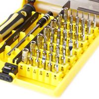 herramienta kit de reparación de teléfono tornillo al por mayor-45 en 1 destornillador de precisión electrónico Conjunto de herramientas Torx Kit de reparación de teléfono celular Juego de destornilladores precisos HQ herramienta de reparación de teléfonos móviles