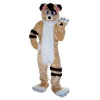 костюмы талисмана лисы оптовых-хаски собака Фокс талисман костюм мультфильм персонаж взрослый размер высокое качество Longteng (ТМ) 0234