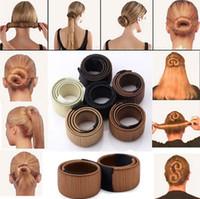 torção mágica do cabelo venda por atacado-Mais populares Laços de Cabelo Da Menina Do Cabelo DIY Styling Francês Torção Magia hairstyling Ferramenta Cabelo Bun Criador