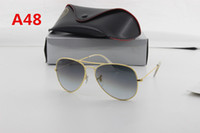 Wholesale Sunglasses Change - Fashion men and women brand sunglasses designer pilot 48mm58mm glass lenses to change sunglasses and boxes