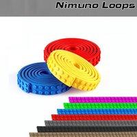 Wholesale Diy Blocks Pcs - 4pcs=1M=1roll No Sticky Backing 2x32 Dots Small Nimuno Loops Plastic Tape Blocks Base Plate Building Blocks DIY Baseplate 1.8cm*25.6cm pc
