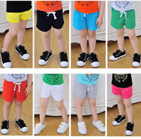 Wholesale Shorts Boy Candy - Kids summer candy color Shorts Baby boys girls cotton brief beach pants girls trousers 20 p