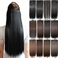 """Wholesale fashion hairpieces - Sara Women Long Clip In Straight Hair Extension Fashion Synthetic Straight Hair Piece Extensions Hairpiece 60CM,24"""""""