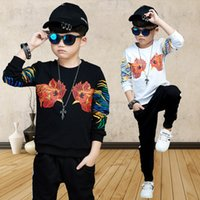 Wholesale Rooster Set - 2017 girls embroidery Rooster print sport clothing sets spring child fashion suits children's clothing set kids clothes casual