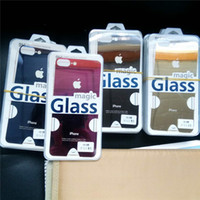 Wholesale Iphone 4s Rear - Front + Back Rear Screen Protector Colorful Mirror Tempering Electroplate Tempered Glass Film for iphone4 4s 6PLUS 6SPLUS 7PLUS