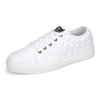 Wholesale Sapato Men - 2017 Men's Skateboarding Shoes For Men Casual shoes Flats White Shoes Leather Driving PU Espadrilles Sapato Masculino