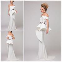 ingrosso uno spalla abiti ricamo-AzziOsta White Mermaid Evening Dress One Shoulder Embroidery Pearls Sleeveless Zipper Party Dress Pretty Fashion Piano Lunghezza Prom Dress