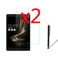 """Wholesale Asus Stylus Pen - Wholesale- 3in1 2x LCD Clear Screen Protector Films Protective Film Guards +1x Stylus Pen For Asus ZenPad 3S 10 Z500 Z500M 9.7"""" Tablet"""