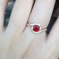 Wholesale Pigeon Mix - Garnet ring, pigeon red ring, 360 degrees all clean without impurities garnet color ring of fire, silver inlaid ring, patent design to quit.