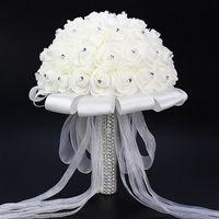 altın ipek yaprakları toptan satış-El yapımı Çiçekler Broş Gelin Düğün Buket Nedime Aksesuarları Düğün Buket Gelin Holding Çiçekler Buket