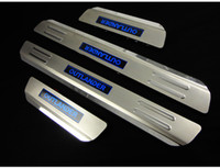 Wholesale Led Door Sill Plates - Wholesale-Auto led Door sill plate scuff plate for mitsubishi outlander 2016,stainless steel,auto accessories,free shipping