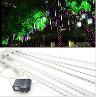 Halloween decorative shower lighting - 20 CM Meteor Shower Rain Tube Decorative Guirlande Led Outdoor Garland Fairy Christmas Tree Luci Natalizie Navidad Lights