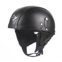Wholesale Vespa Helmets - 2017 Factory wholesale Vintage Helmet Retro Motorcycle Helmet Chopper Bikes for Harley Bikes Vespa Open Face Half Helmet Motorcycle Helmets