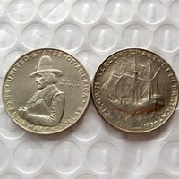 Wholesale Commemorative Half Dollar - Hot Selling 1920 Pilgrim Commemorative Half Dollar Promotion Cheap Factory Price nice home Accessories Silver Coins