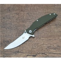 Wholesale Knife Enlan - Free shipping outdoor survival Enlan EW054-1 Big Tactical Camping Folding Knife Satin 8Cr13Mov Blade Green G10 Handle