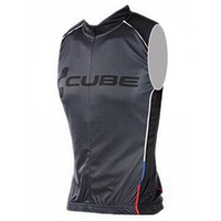 Wholesale Team Cube Cycling Jerseys - CUBE Pro Team cycling jersey clothing sleeveless mountain bike clothes bicycle sportswear china cheap maillot D0601