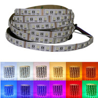 Wholesale Led Light W Wire - smd5050 300led RGBW Led Flexible Strip RGB+W WW Waterproof 12V Strip light for home decoration DHL shipping