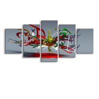 Wholesale cheap large abstract paintings - 5 Panel abstract Painting Canvas Wall Art Picture Home Decoration Living Room Canvas Print Modern Painting--Large Canvas Art Cheap SD-002