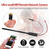 Wholesale Wifi Hd Network Camera - New Ultra-small WiFi Remote Network Camera Module A1 Full HD 1080P Mini Hidden Camera H.264 Format 12MP COMS Lens DIY Module Camera