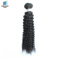 1 Bundle Afro Kinky Curly Hair Weave Bundles High Quality Raw Virgin Indian Remy Extensões de cabelo humano 10-28 inch Kiss Hair Fashion Style