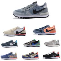 Wholesale Vintage Womens Shoe Rubbers - Internationalist Suede   JCRD Mens & womens Vintage Running Shoes wolf grey Tech Fleece Pack Summer Leather Sneakers sports size 36-44