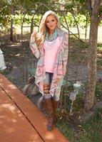 Wholesale tribal cardigans - Wholesale- Women Tops Fashion Collarless Long Cardigan Female Stylish Collarless Long Sleeve Cardigan Tribal Print Asymmetrical Cardigan