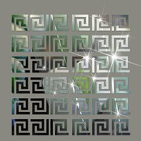 Wholesale 3d Ceiling Stickers - 3d mirror stickers 10pcs lot Geometric Waist 3D Mirror Sticker For Ceiling Living Room Bedroom Acrylic Mural Wall Decals Modern DIY