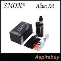 Wholesale Metal Alien - SMOK Alien Kit Alien 220 TC Box Mod with 3ML TFV8 Baby Tank TCR Mode Dual Battery Large Air Chamber with Four Alternate Coils 100% Authentic
