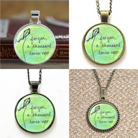 Wholesale Runners Necklace - 10pcs The Kite Runner For You A Thousand Times Over Literary Quote Necklace keyring bookmark cufflink earring bracelet