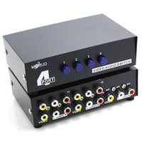 4 Way Composite 3 Interruttore AV RCA Audio Video Switcher Selettore 4 In 1 Out switcher per proiettore LCD HDTV STB DVD