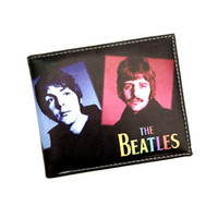 Wholesale Iron Man Guns - Wholesale- The Classic Rock and Roll Orchestra People Purse the Beatles iron Lady Guns and Roses Cartoon Man Wallet