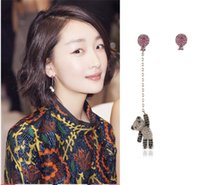 Xs Asymmetric Bear Ear Clip Acessórios Venda Por Atacado Balloon Without Ear Pierced Earrings S925 Silver Earrings B055