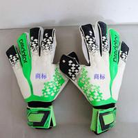 Wholesale Glove Guard - 2017 New Professional Thicken Latex Football Goalkeeper Gloves Goalie Soccer Goal Keeper Guantes Finger Guard Non-slip Gloves