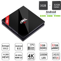 H96 Pro + Smart TV BOX S912 Octa Core Android 6.0 3G 32G Opcional Dual WiFi Gigabit Ethernet BT H.265 4K Media Player