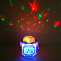 Wholesale Starlight Projector - Night Light Home Decor Music Starry Star Sky Digital Clock LED Projection Starlight Projector Alarm Clock Calendar Color Changing