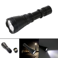 Wholesale Fast delivery NEW Arrivals New Underwater LM Diving Flashlight Torch XML T6 LED Light Lamp Waterproof Super T6 LED Waterproof