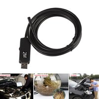 Waterproof 2m Mini USB Endoscope Handoscope Borescope 10mm Objectif Digital Inspection Camera avec 6 LED réglable EGS_079