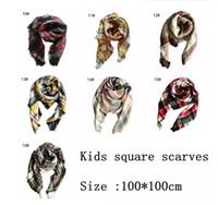 Wholesale ring lattice - Kids Plaid Scarf 100*100cm Tartan Scarf Neck Warmer Scarfs Boy Girl Children Lattice Tassels Scarf Shawl 16 Styles 40pcs