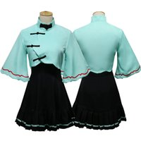 vocaloid full cosplay achat en gros de-VOCALOID 3 Chine Luotianyi Luo Tianyi Sésame Coller la robe chinoise Pleine Set-in Cosplay Costumes Cheongsam Tops Jupe