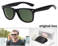 мужские дизайнерские очки оптовых-Высокое качество бренд дизайнер моды для мужчин солнцезащитные очки UV400 защиты открытый спорт старинные женские солнцезащитные очки ретро очки с коробкой и случаях