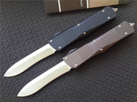 "Wholesale Cnc Hand - Cncostco Custom Combat Troodon Recurve Knife 6061-T6 Aluminum (3.8"" Hand Satin) CNC D2 steel Plain Tactical knives w  nylon sheath A07 616"