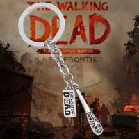 Wholesale Hot Film The Walking Dead Keychain Vintage Steampunk Fighting The Death Fear The Living Pendants Key Chain Ring Holder Chaveiro
