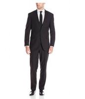 Wholesale Top Fahsion - Wholesale- Custom Made Groom Tuxedos- New Fahsion Men Black Business Suits Two Button Dress Suits Top Tuxedo Slim Fit Suits 2 Piece for Men